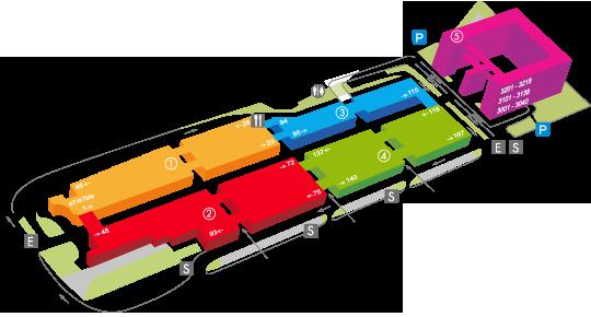 Plan du CIFA : Centre de Grossistes de Prêt à Porter, Chaussures & Accessoires